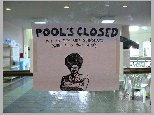 stay out pool fool