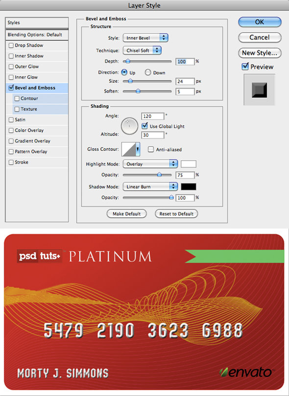 step3 - how to create a realistic credit card in photoshop