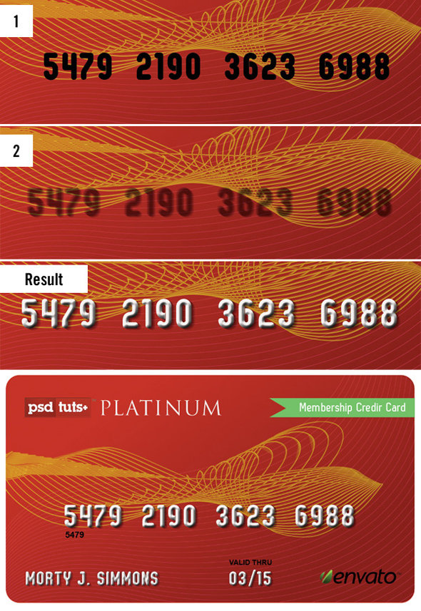 step4 - how to create a realistic credit card in photoshop