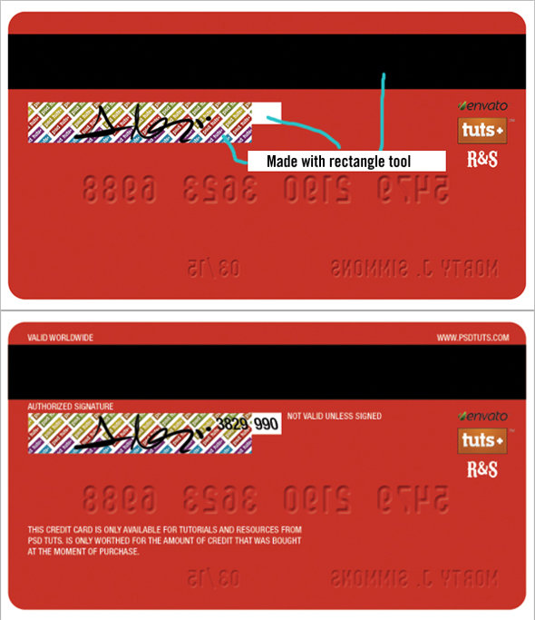 step6 - how to create a realistic credit card in photoshop