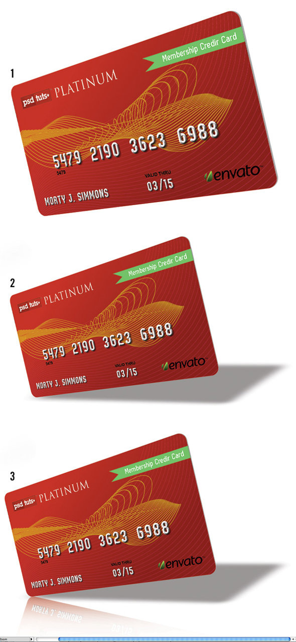 step8 - how to create a realistic credit card in photoshop