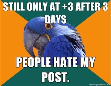 only after days people hate post