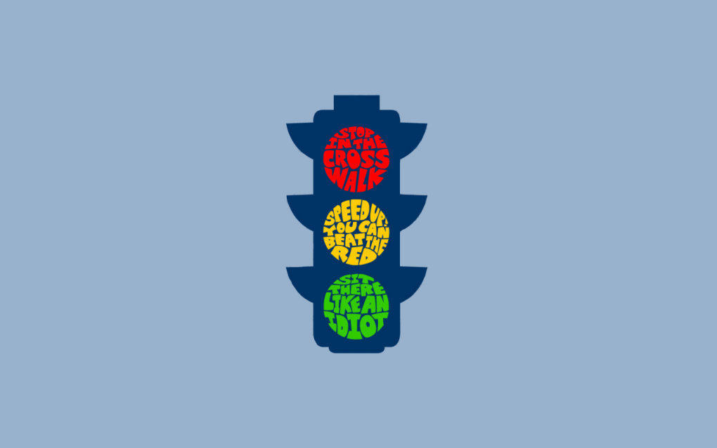 stoplight - simple funny wallpapers vi