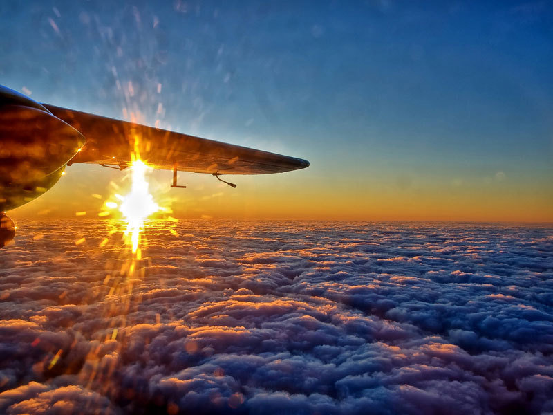 sunsets - why you should always try to get a window seat