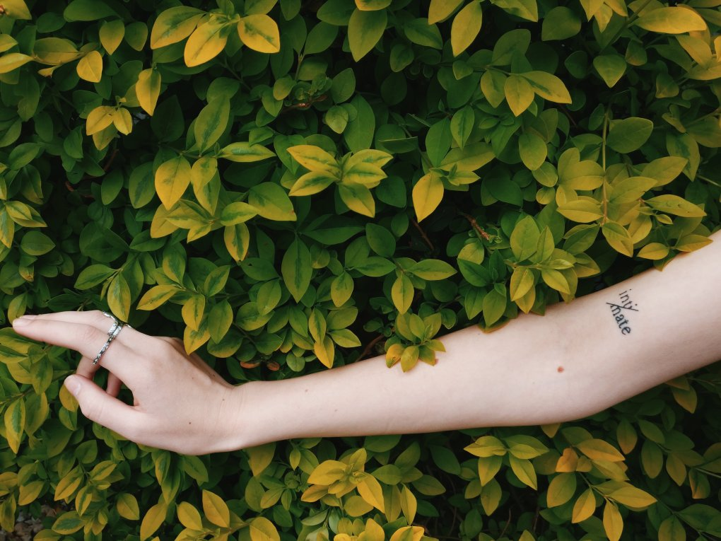 text tattoos for women