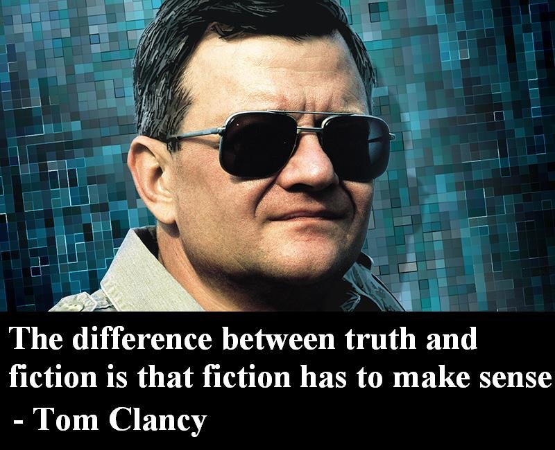 difference between truth fiction tom clancy