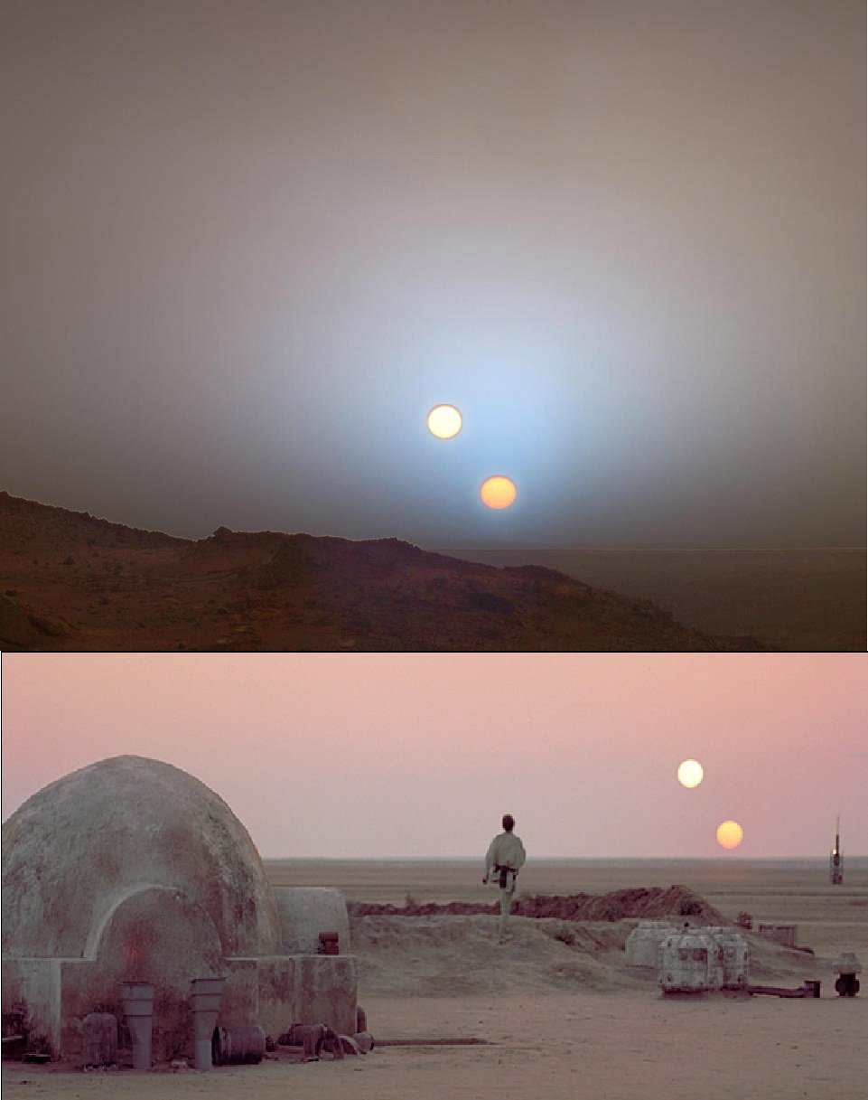 future now top photo from curiosity bottom photo from star wars