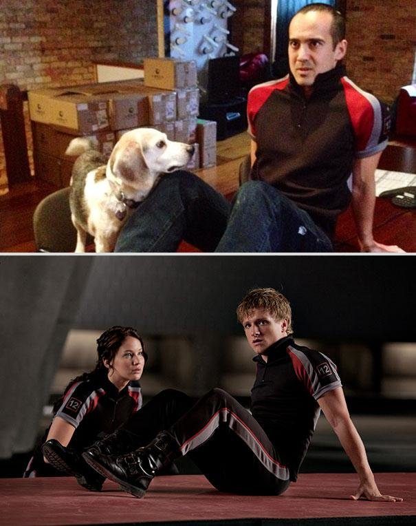 hunger games movie scenes dog