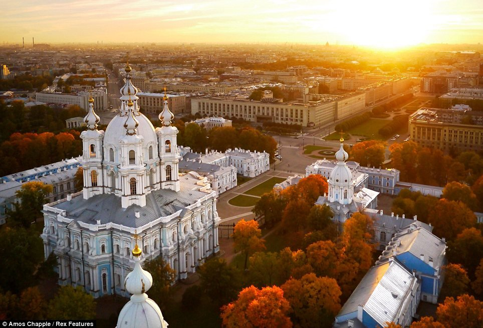 smolny convent sunset