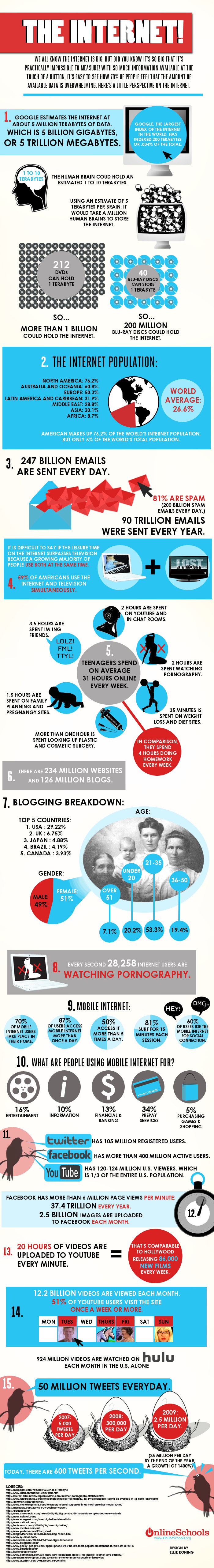 the internet - facts about the internet