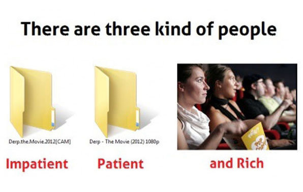 there are three kinds people who watch movies