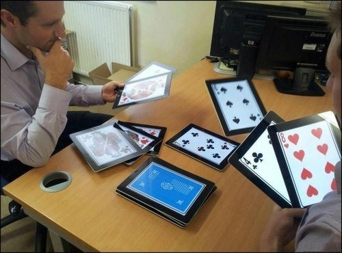 rich people play cards