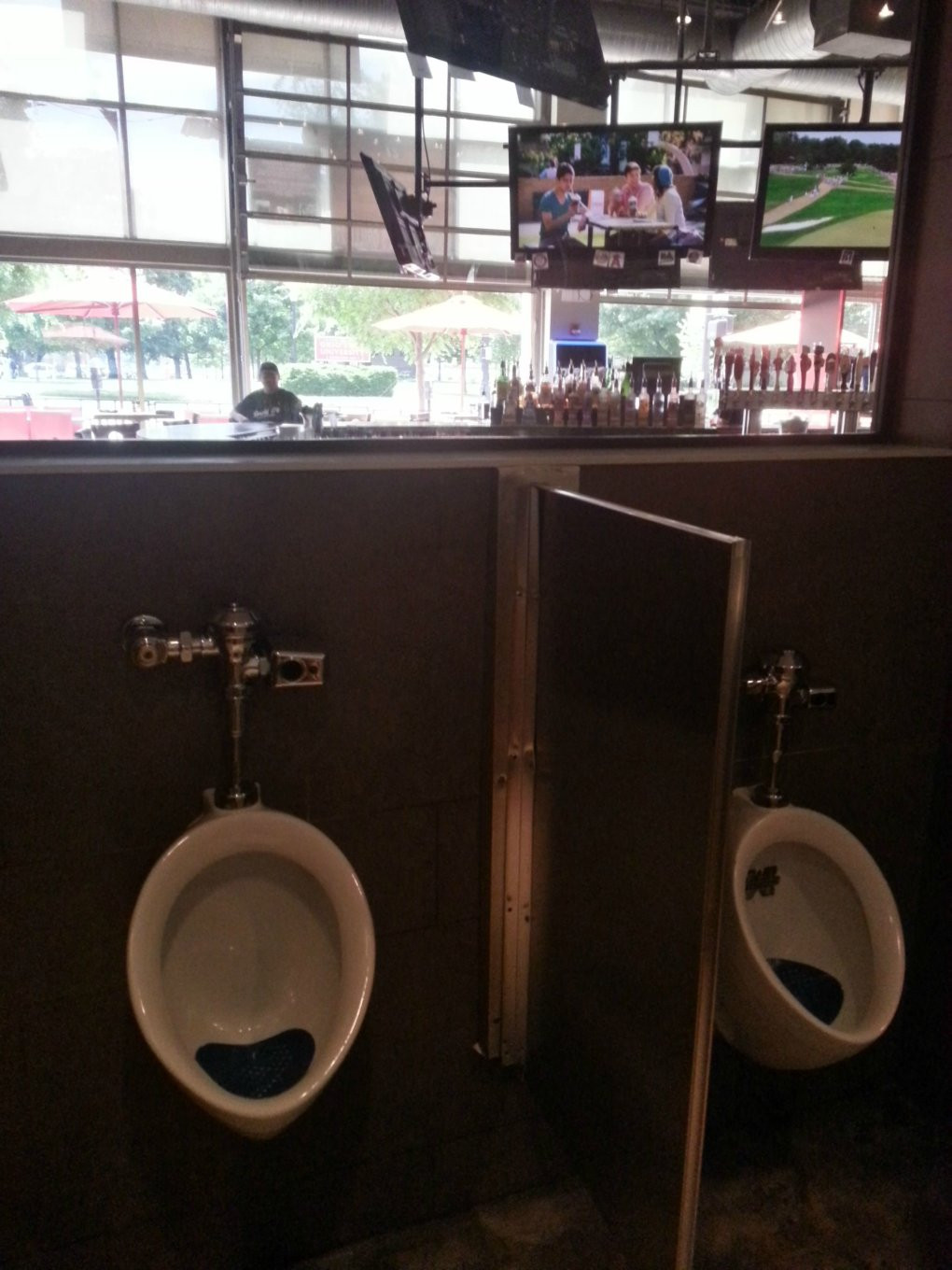 sports bar way glass bathroom dont miss any game