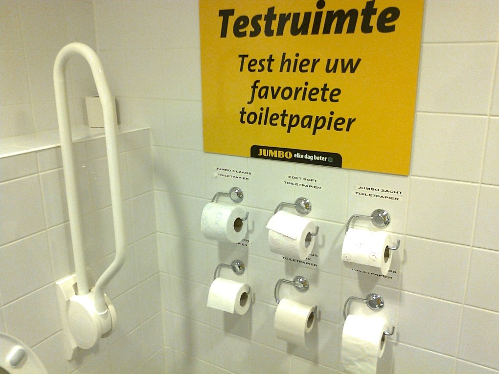 toilet dutch supermarket lets test brands toilet paper they sell