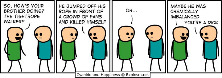 tightrope - cyanide and happiness
