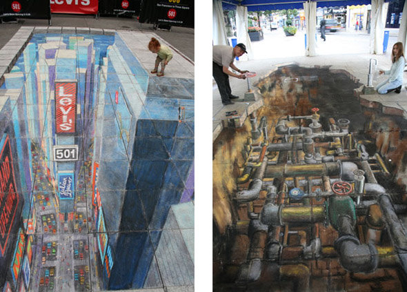 timesquare2 - amazing 3d street art by julian beever
