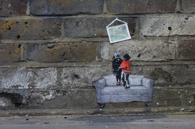 tiny street art kids couch