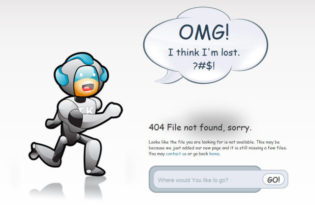 tkdesigns tv - some of the best 404's