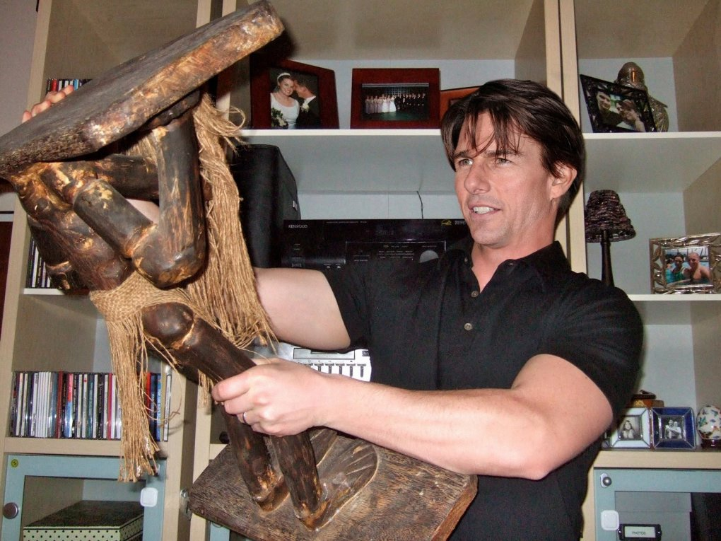 tom cruise playing stick
