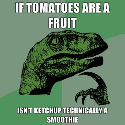 tomatoes are fruit