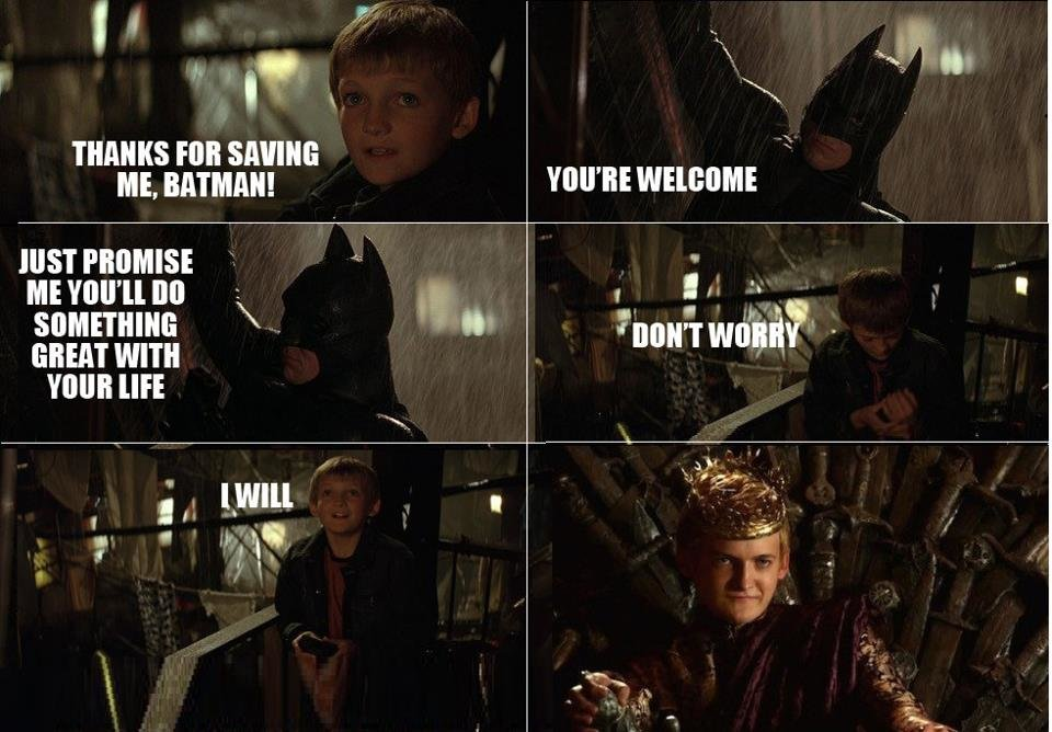 topical repost saw little gaffer while watching batman begins