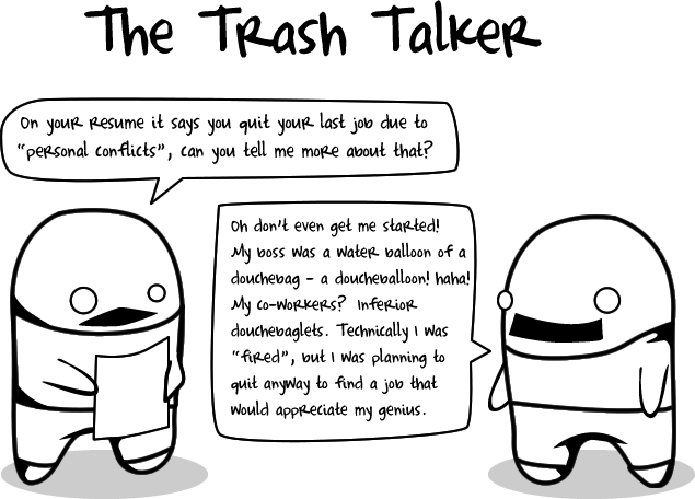 trash - 10 types of crappy interviewees