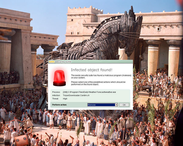 trojanhorse alert messages existed real world