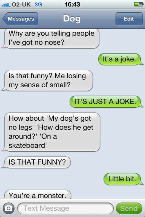 tumblr m29t1aurdy1rt9zy5o1 500 - texts from dog.