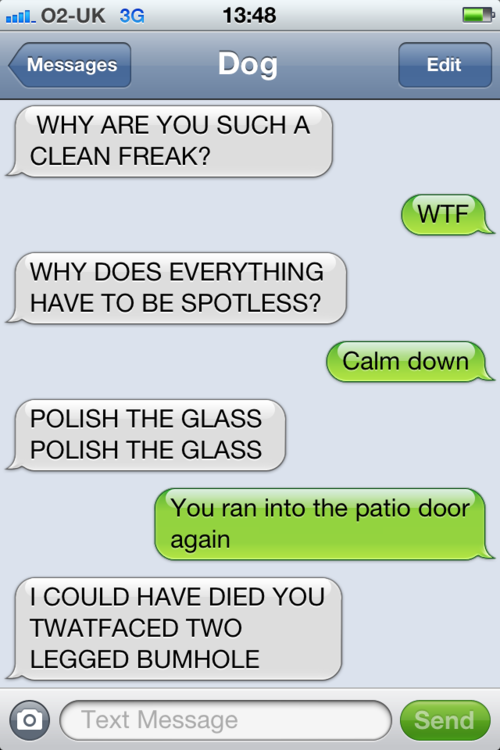 tumblr m2q961ebkp1rt9zy5o1 500 - that's right, it's more canine capers in texts from dog.