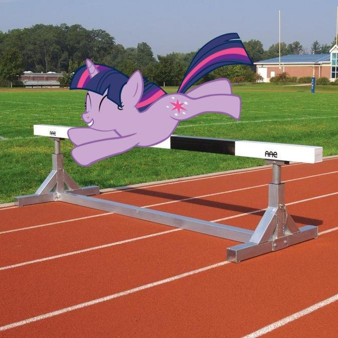 twilight doing hurdles