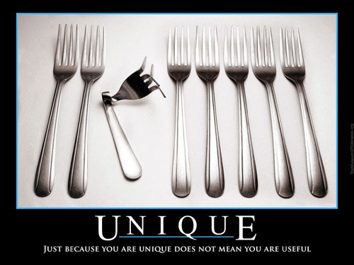 unique - demotivational posters