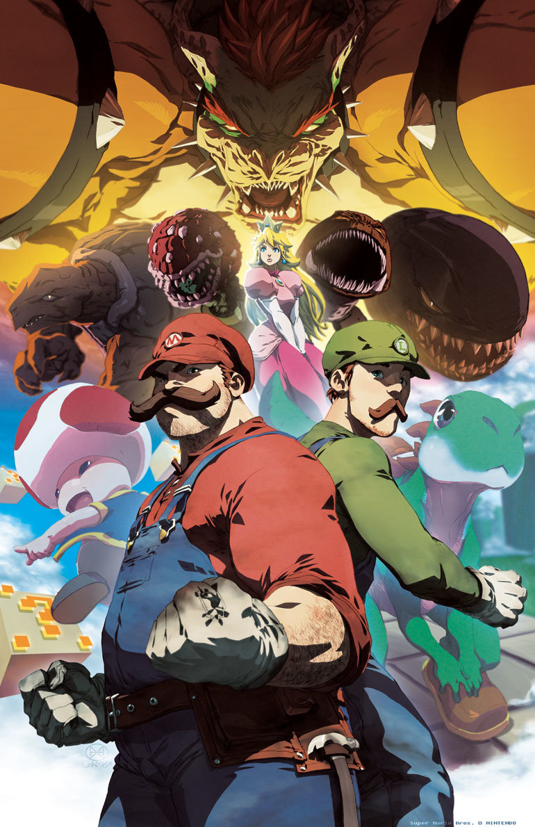 wallpaper 545313 - best anime pic of mario&friends