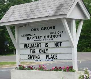 walmart - funny church signs