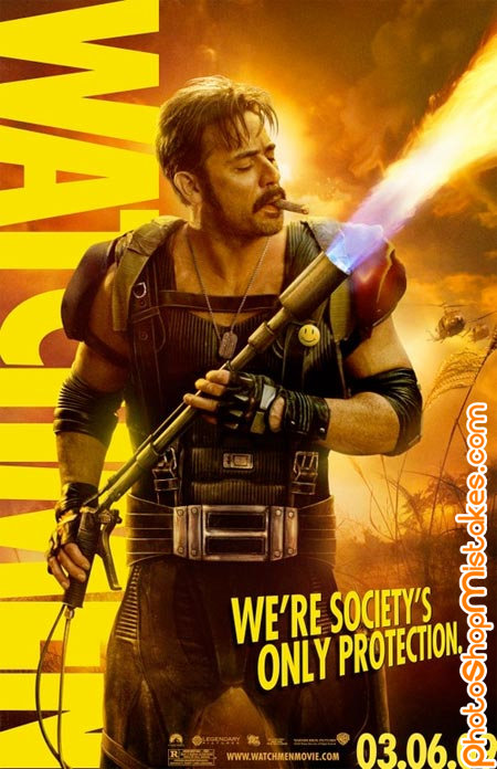 watchmen poster flame thrower