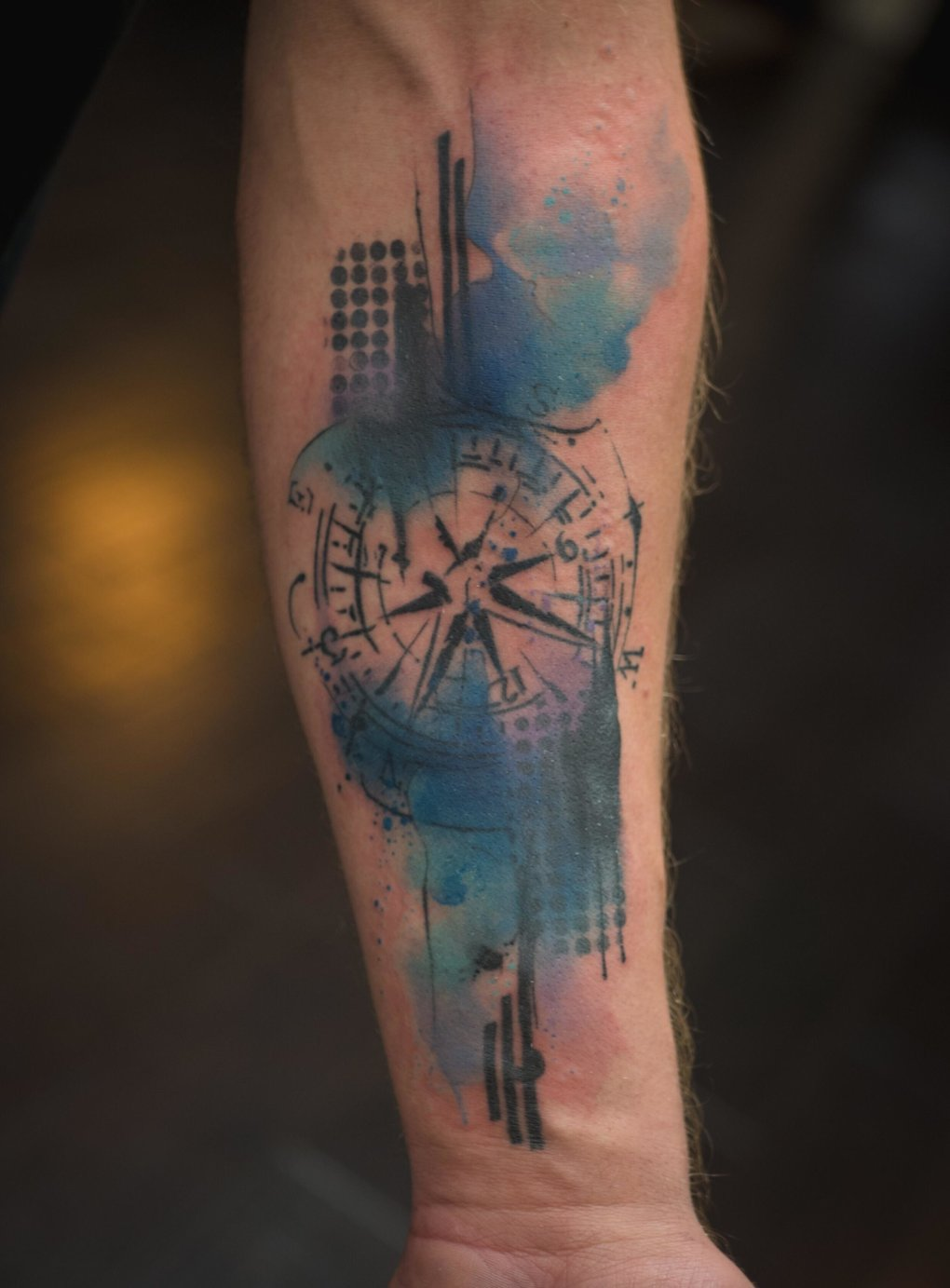 watercolor tattoos for men