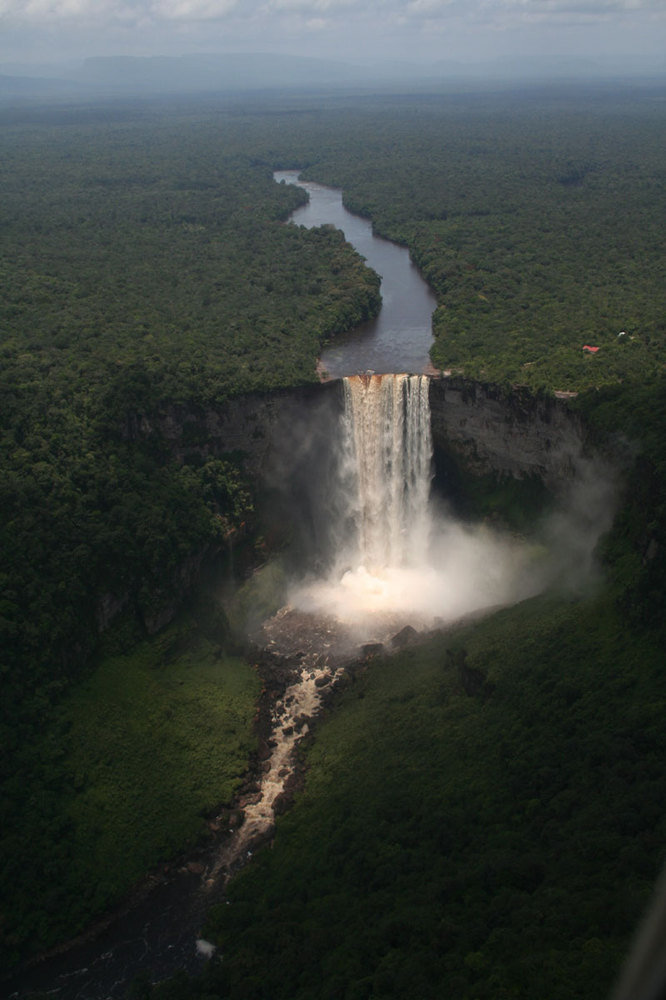 waterfall - why you should always try to get a window seat