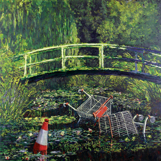 waterlilies - banksy - graffiti / art