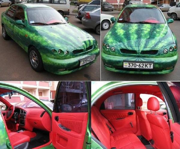 watermelon car pic