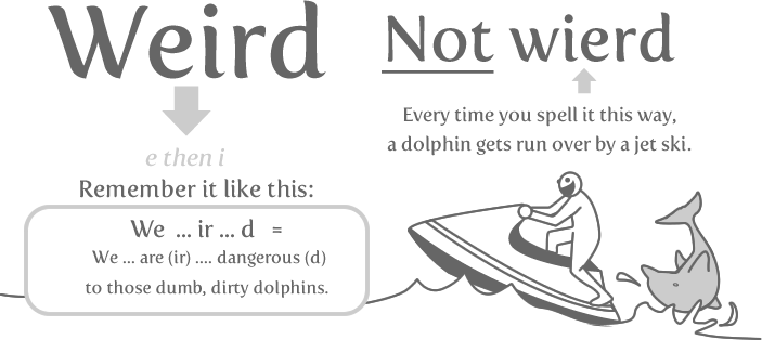 weird - 10 words you need to stop misspelling