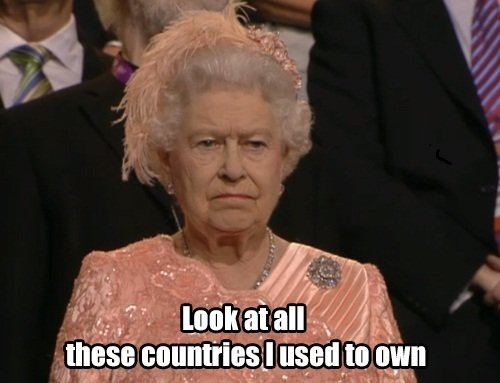 what queen thinking during opening ceremonies