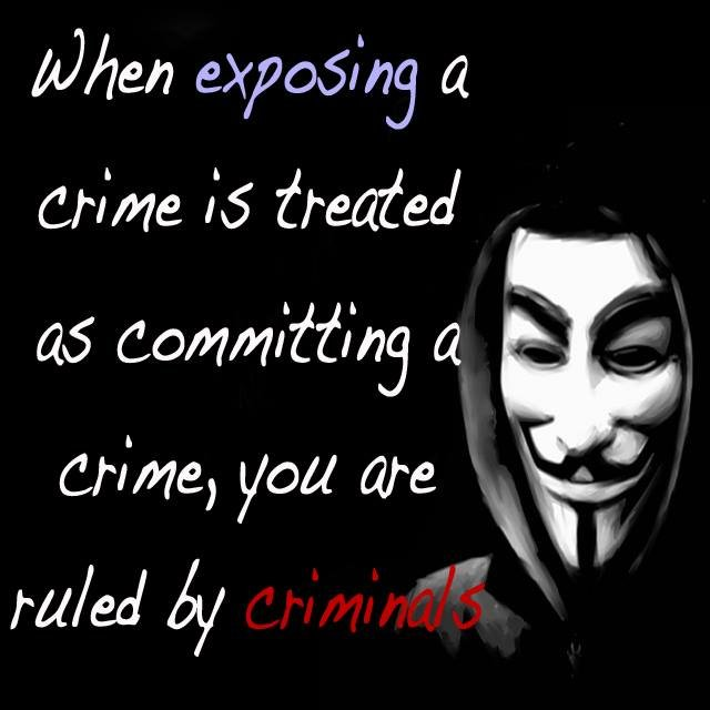 when exposing crime treated committing crime are ruled criminals anonymous