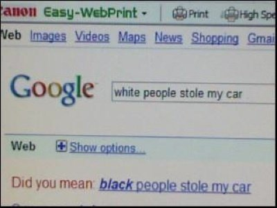white people stole car