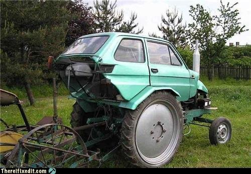 white trash repairs think your first car bad