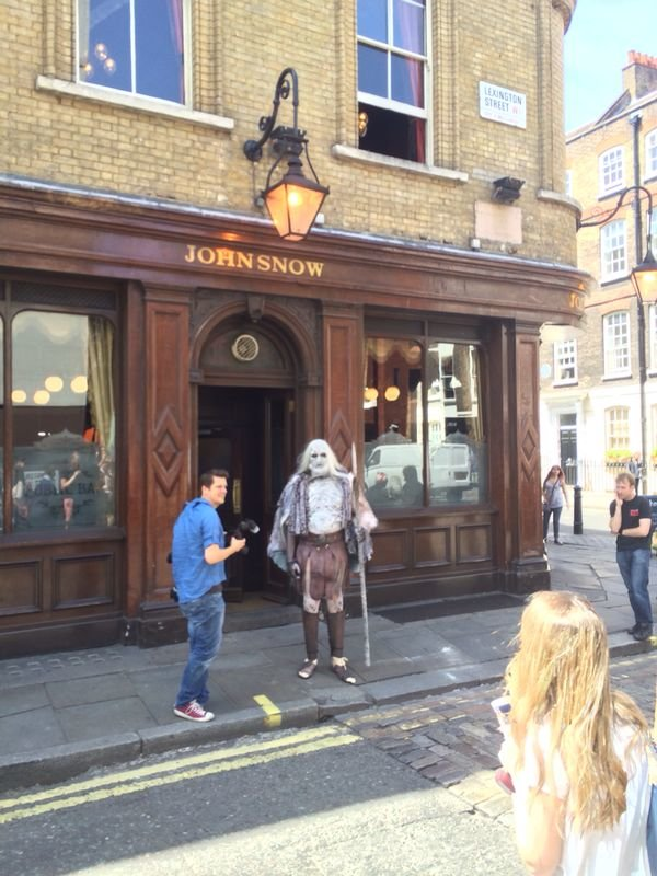 white walker walked into local pub