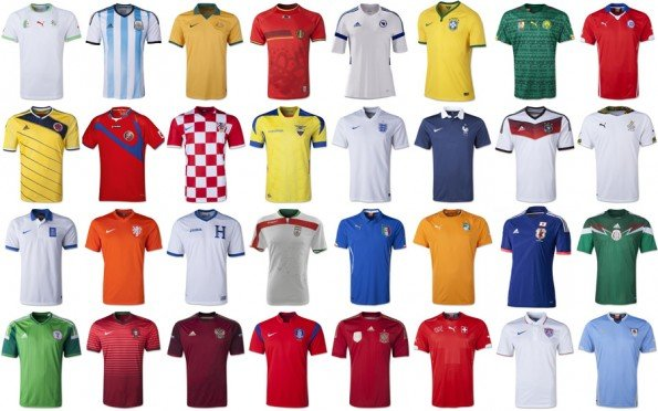 world cup countries football jerseys