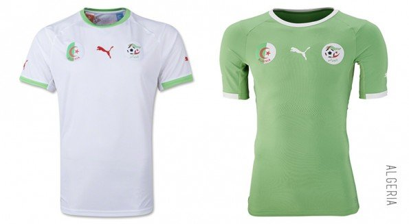 world cup jersey algeria home away kit