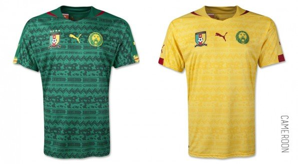 world cup jersey cameroon home away kit