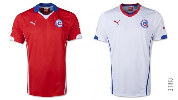 world cup jersey chile home away kit