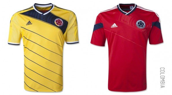 world cup jersey colombia home away kit