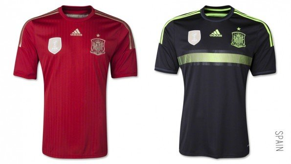world cup jersey spain home away kit